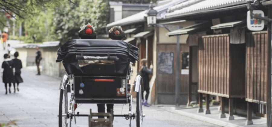 人力車で京都を移動する
