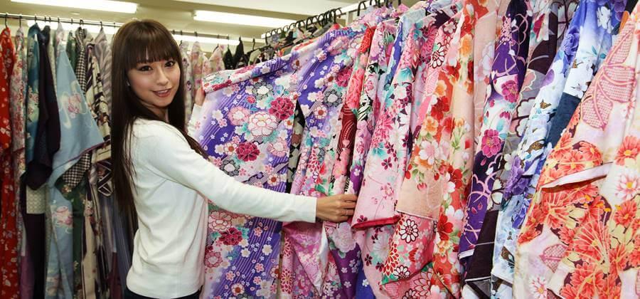 京あるきで選べる着物の種類はたくさんありました。