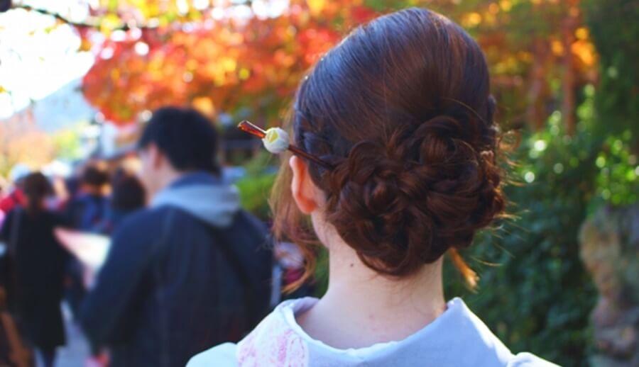 レンタル着物でお手軽に京都の紅葉を
