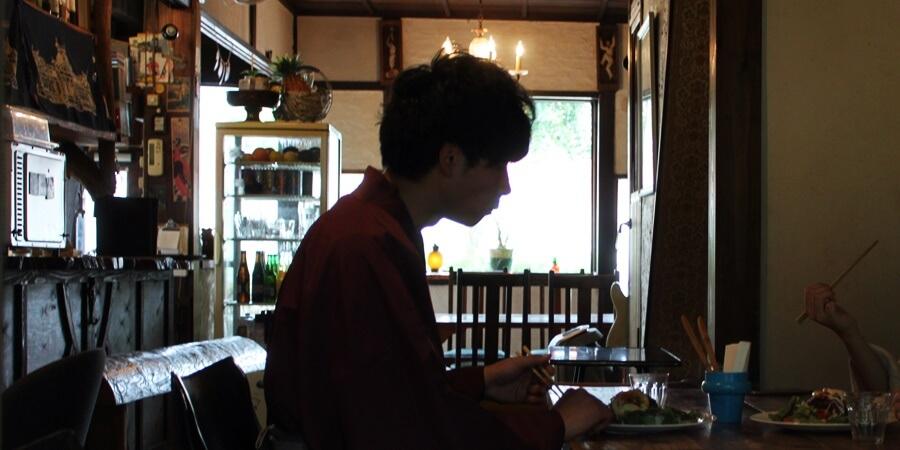 着物姿が映えるカフェで一休み