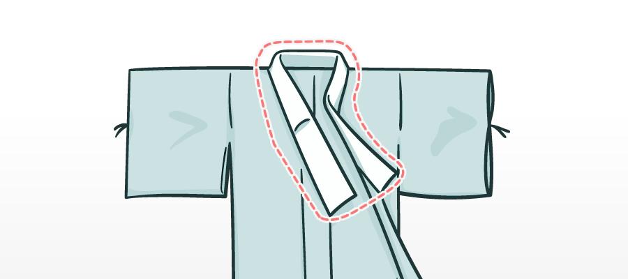 浴衣をオシャレに着こなすためには「半衿」がおすすめ